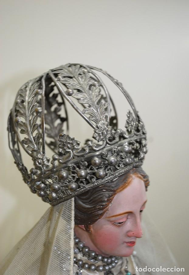 Arte: ANTIGUA VIRGEN DE MADERA TALLADA - VIRGEN CAP I POTA - Foto 5 - 147888166