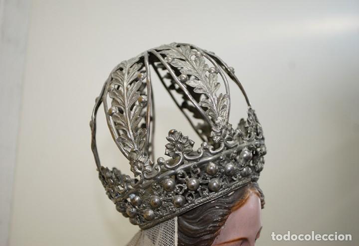 Arte: ANTIGUA VIRGEN DE MADERA TALLADA - VIRGEN CAP I POTA - Foto 6 - 147888166