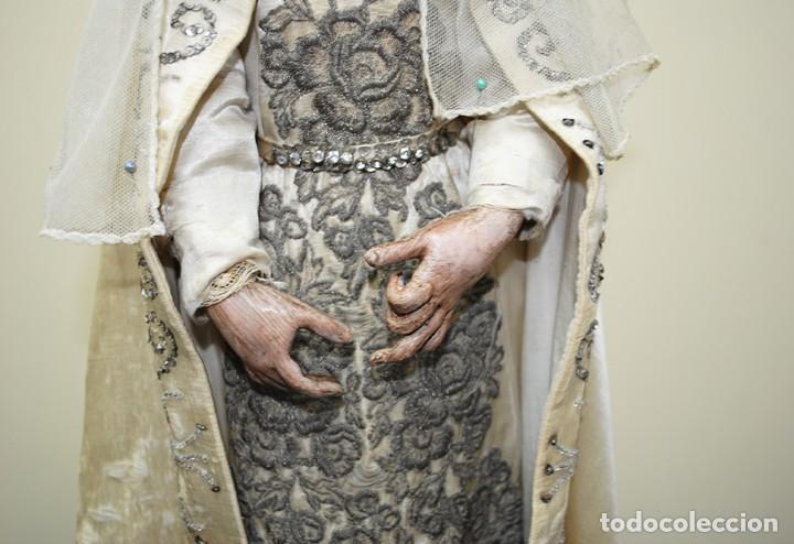 Arte: ANTIGUA VIRGEN DE MADERA TALLADA - VIRGEN CAP I POTA - Foto 7 - 147888166