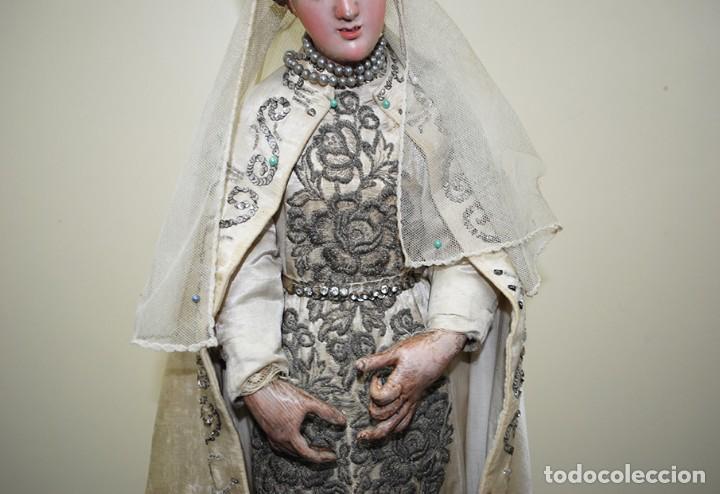 Arte: ANTIGUA VIRGEN DE MADERA TALLADA - VIRGEN CAP I POTA - Foto 8 - 147888166