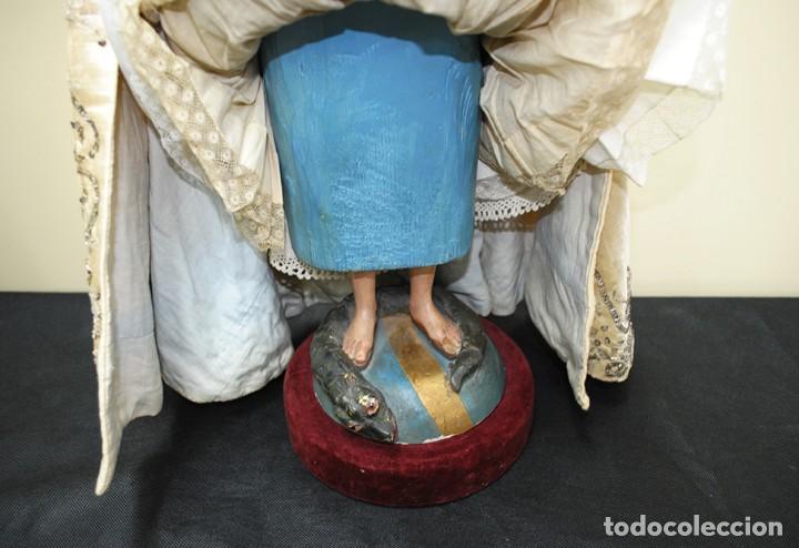 Arte: ANTIGUA VIRGEN DE MADERA TALLADA - VIRGEN CAP I POTA - Foto 13 - 147888166