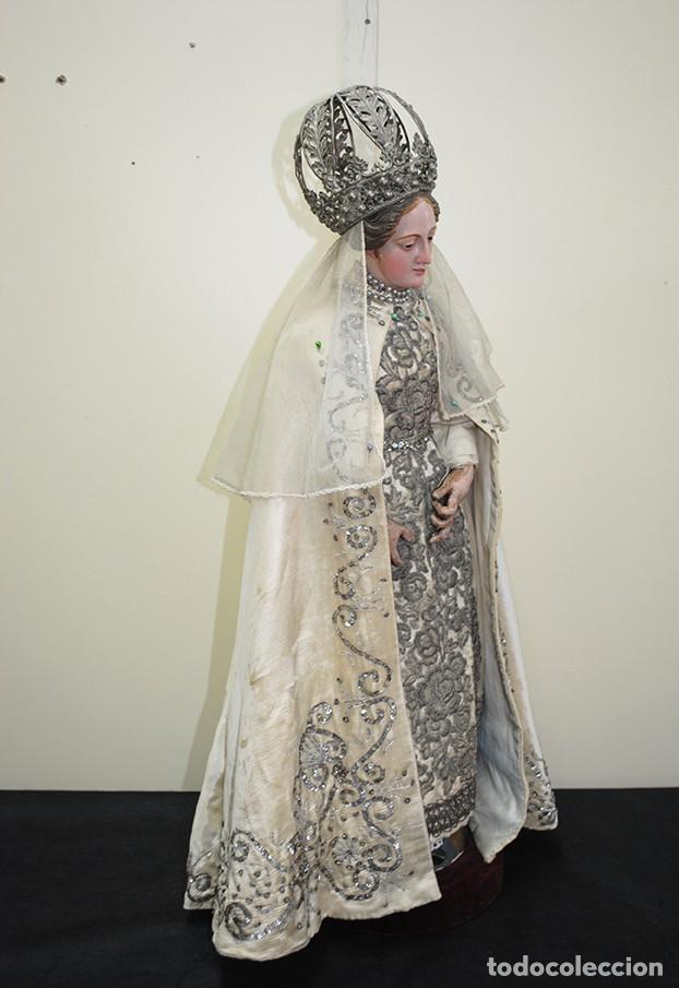 Arte: ANTIGUA VIRGEN DE MADERA TALLADA - VIRGEN CAP I POTA - Foto 15 - 147888166