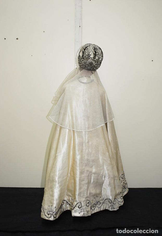 Arte: ANTIGUA VIRGEN DE MADERA TALLADA - VIRGEN CAP I POTA - Foto 17 - 147888166