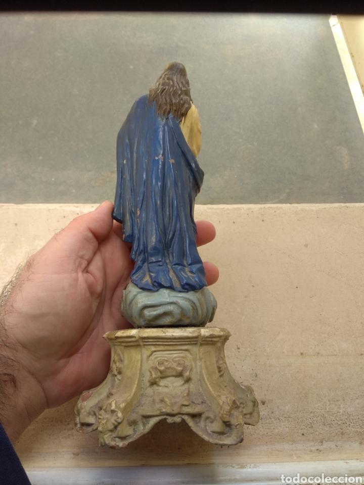 Arte: Antigua Escultura Virgen Inmaculada Concepción en Terracota XIX - Foto 8 - 147905972