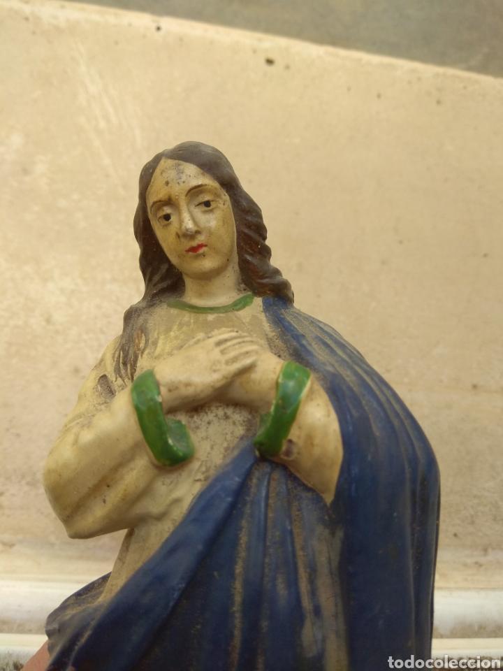 Arte: Antigua Escultura Virgen Inmaculada Concepción en Terracota XIX - Foto 18 - 147905972