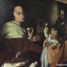 Arte: MURILLO. IMPRESIONANTE COPIA DE LA SAGRADA FAMILIA DEL PAJARITO DEL MUSEO DEL PRADO. S. XIX. Lote 147932294