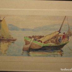 Arte: ACUARELA ENMARCADA EN MARCO DE MADERA Y CRISTAL. Lote 147993062