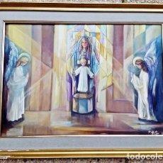 Arte: PINTURA RELIGIOSA AL ÓLEO DE LOS 70. Lote 148155814