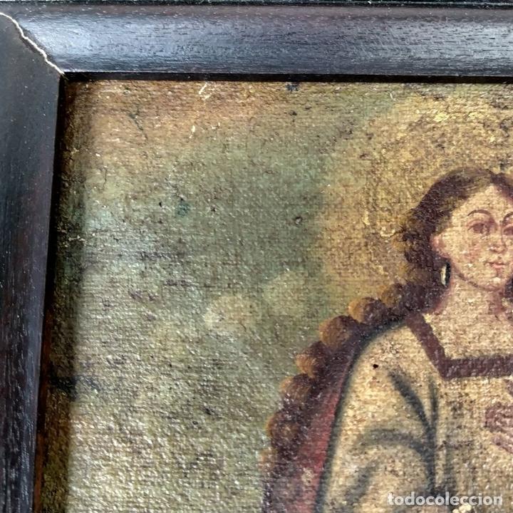 Arte: SANTA CATALINA DE ALEJANDRÍA Y SANTO DOMINGO. CUZQUEÑAS. ÓLEO. SUDAMÉRICA. XVIII - Foto 6 - 148165462