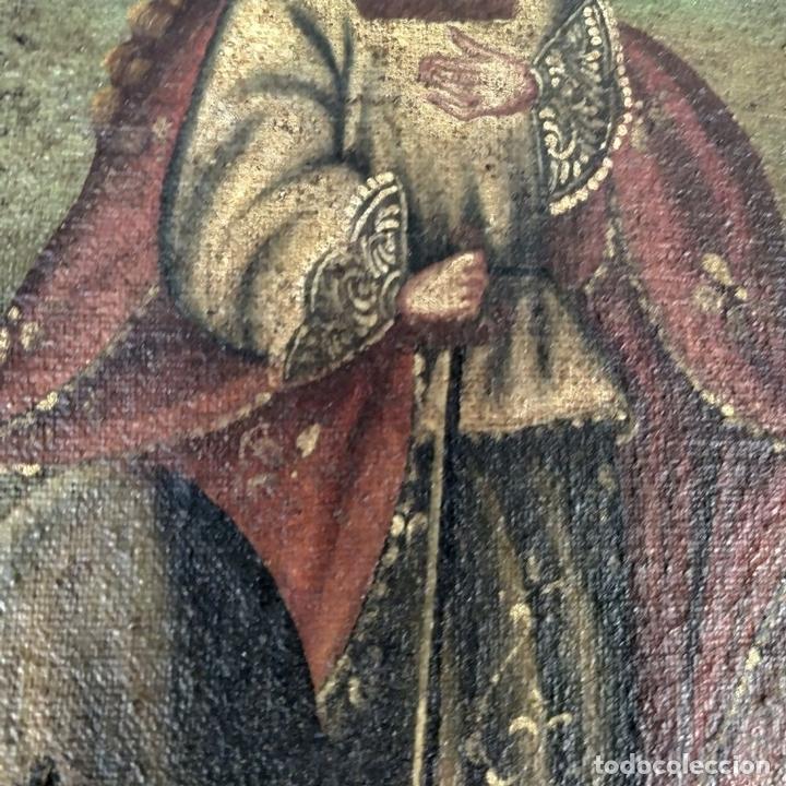 Arte: SANTA CATALINA DE ALEJANDRÍA Y SANTO DOMINGO. CUZQUEÑAS. ÓLEO. SUDAMÉRICA. XVIII - Foto 7 - 148165462