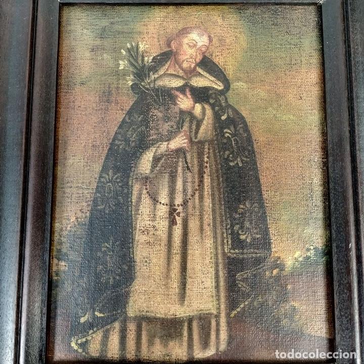 Arte: SANTA CATALINA DE ALEJANDRÍA Y SANTO DOMINGO. CUZQUEÑAS. ÓLEO. SUDAMÉRICA. XVIII - Foto 10 - 148165462