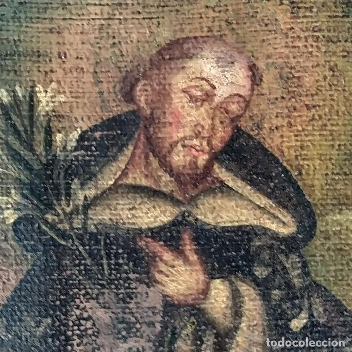 Arte: SANTA CATALINA DE ALEJANDRÍA Y SANTO DOMINGO. CUZQUEÑAS. ÓLEO. SUDAMÉRICA. XVIII - Foto 11 - 148165462