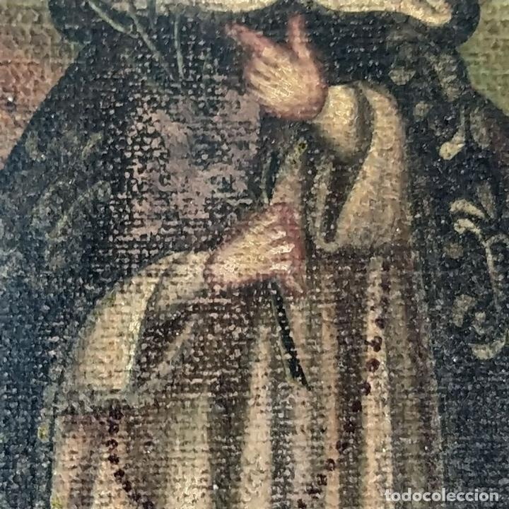 Arte: SANTA CATALINA DE ALEJANDRÍA Y SANTO DOMINGO. CUZQUEÑAS. ÓLEO. SUDAMÉRICA. XVIII - Foto 12 - 148165462