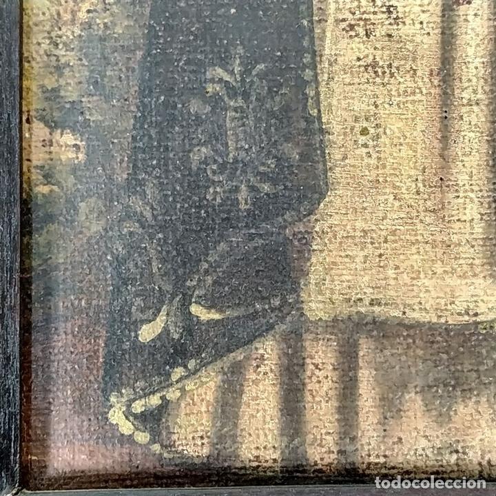 Arte: SANTA CATALINA DE ALEJANDRÍA Y SANTO DOMINGO. CUZQUEÑAS. ÓLEO. SUDAMÉRICA. XVIII - Foto 13 - 148165462