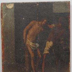 Arte: FLAGELACION DE CRISTO. OLEO SOBRE TABLA SIGLO XVII. Lote 148281606