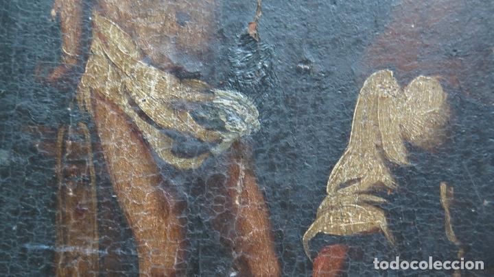 Arte: FLAGELACION DE CRISTO. OLEO SOBRE TABLA SIGLO XVII - Foto 2 - 148281606