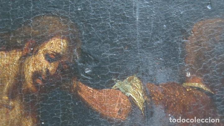 Arte: FLAGELACION DE CRISTO. OLEO SOBRE TABLA SIGLO XVII - Foto 3 - 148281606