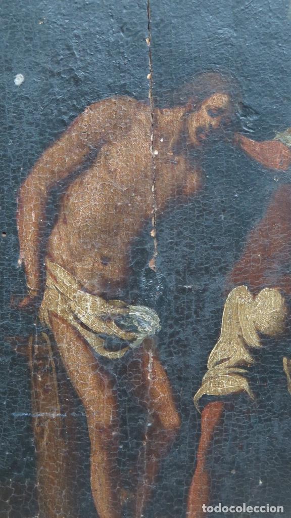 Arte: FLAGELACION DE CRISTO. OLEO SOBRE TABLA SIGLO XVII - Foto 4 - 148281606