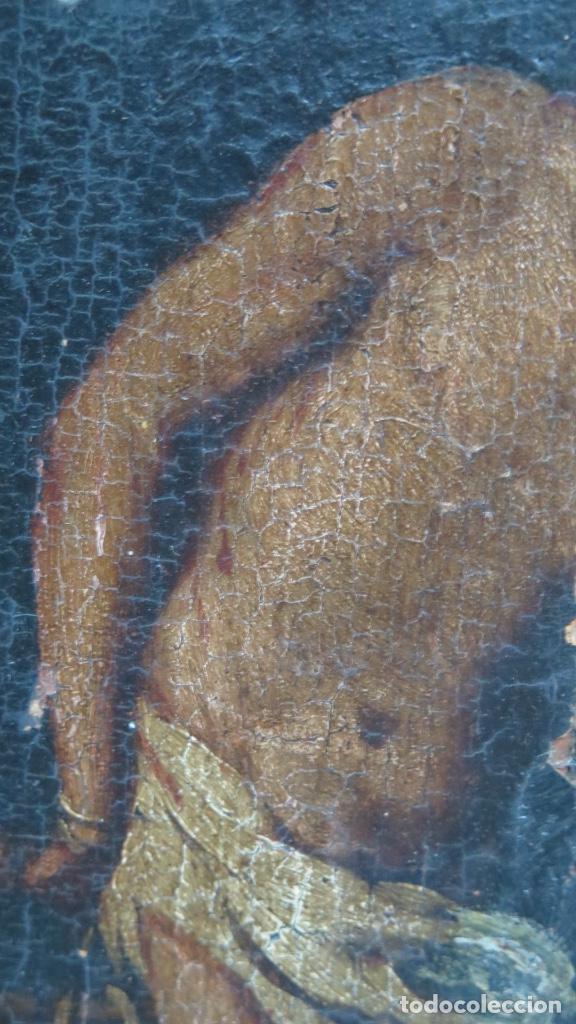 Arte: FLAGELACION DE CRISTO. OLEO SOBRE TABLA SIGLO XVII - Foto 5 - 148281606