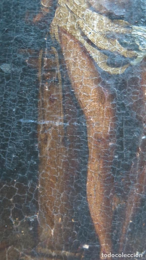 Arte: FLAGELACION DE CRISTO. OLEO SOBRE TABLA SIGLO XVII - Foto 6 - 148281606