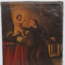 Arte: BONITO SAN ANTONIO. OLEO S/LIENZO. SIGLO XVIII-XIX. Lote 148286014