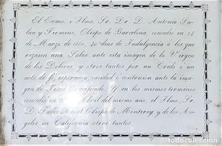 Arte: INDULGENCIAS DE LOS OBISPOS DE BARCELONA Y MONTERREY. GRABADO. ESPAÑA. 1860 - Foto 2 - 171330387
