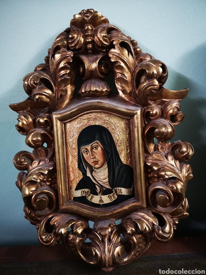 MARE DE DEU DE COCENTAINA, IMPRESIONANTE OBRA CON IMPORTANTE CORNUCOPIA. (Arte - Arte Religioso - Pintura Religiosa - Oleo)