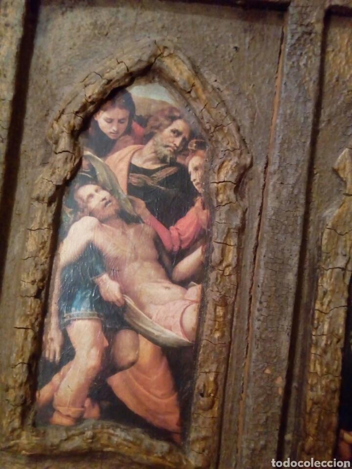RETABLO ANTIGUO TABLA (Arte - Arte Religioso - Retablos)