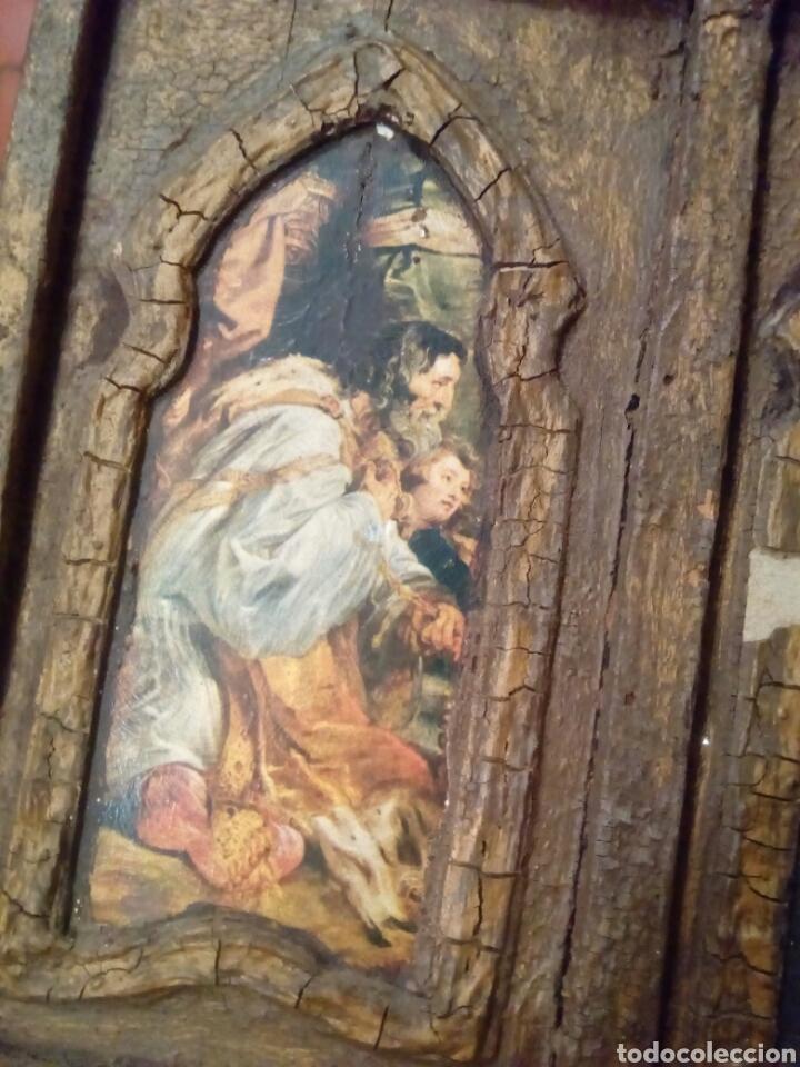 Arte: Retablo antiguo tabla - Foto 3 - 148550664