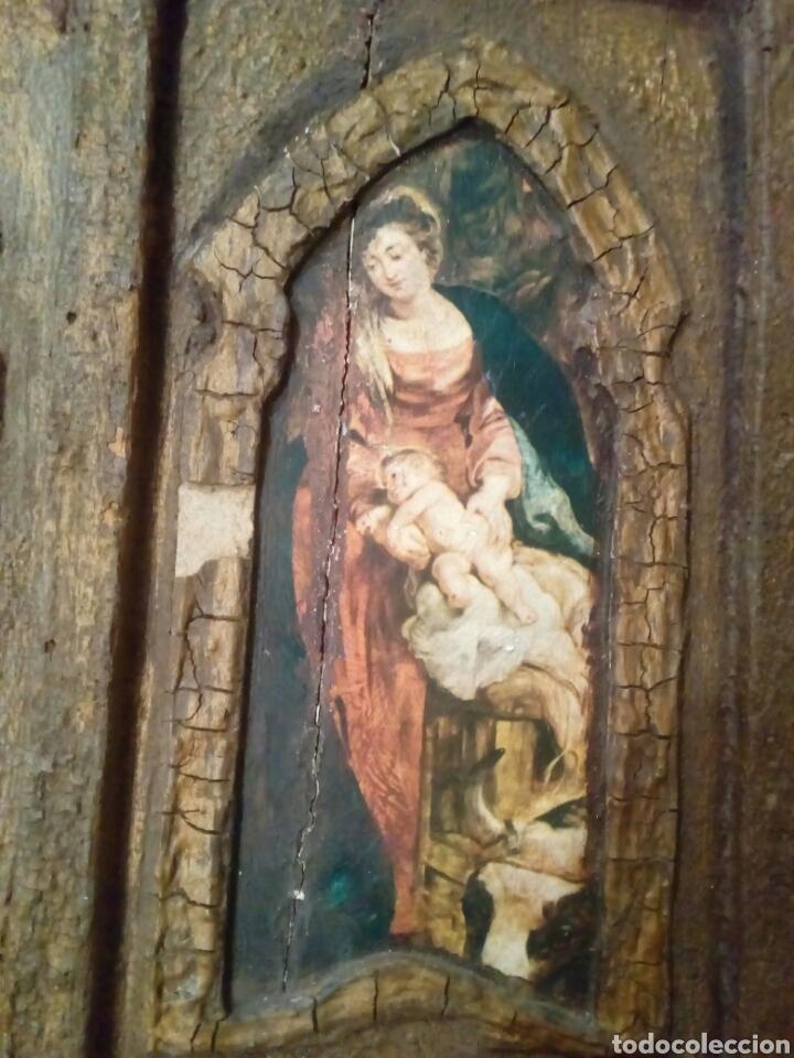 Arte: Retablo antiguo tabla - Foto 4 - 148550664