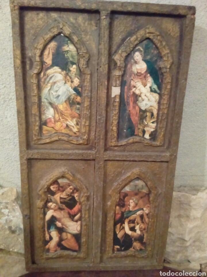 Arte: Retablo antiguo tabla - Foto 5 - 148550664