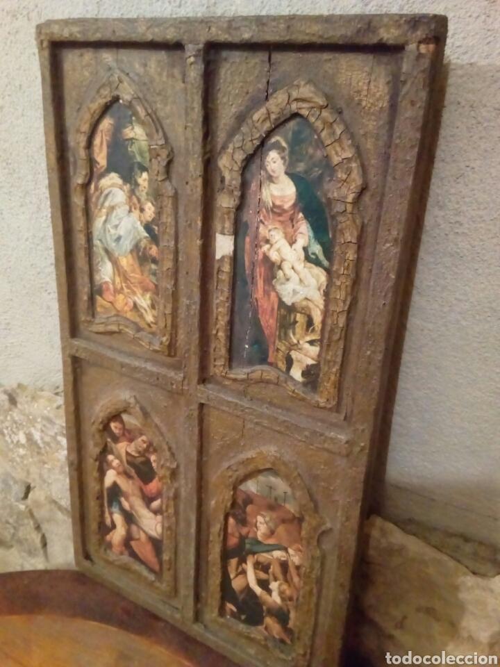Arte: Retablo antiguo tabla - Foto 6 - 148550664