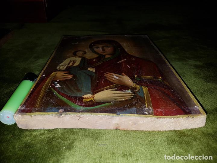 Arte: OLEO SOBRE TABLA. ICONO.SIGLO XVIII - Foto 6 - 148579518
