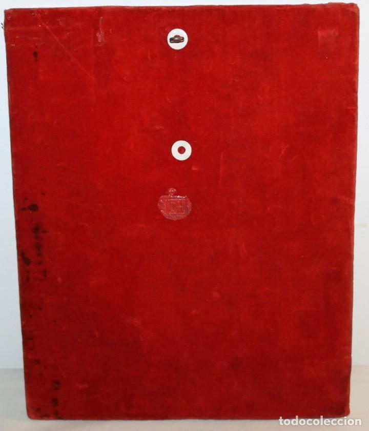 Arte: ICONO RUSO CON SANTOS ORTODOXOS - ESTAÑO REPUJADO SOBRE MADERA - SELLO LACRE INICIALES DH - H.1940 - Foto 10 - 148613630