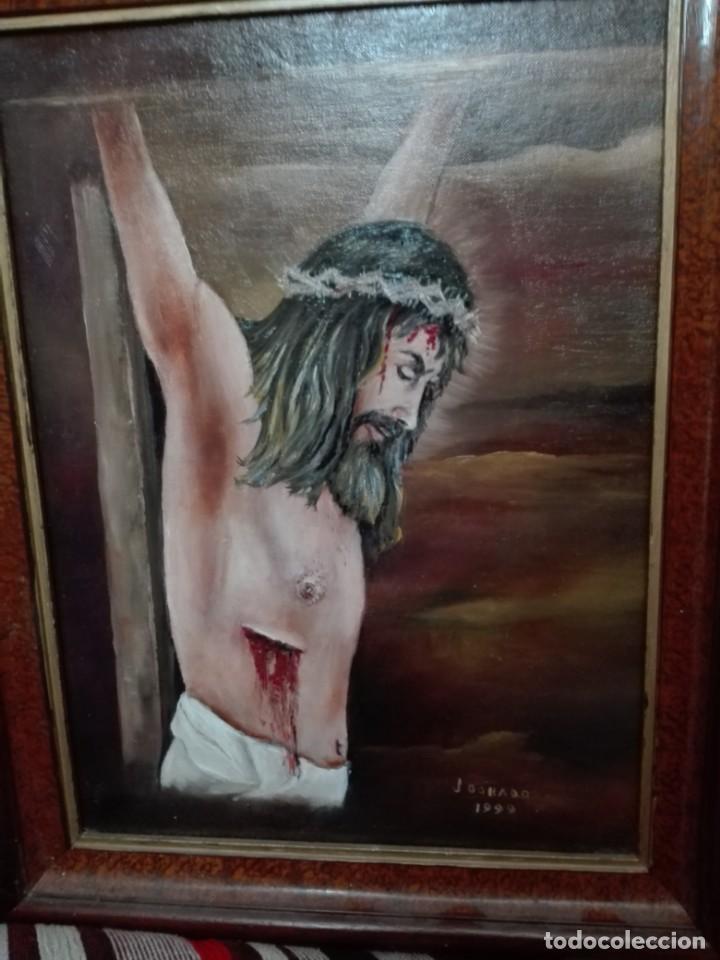 PINTURA DE CRISTO FIRMADO J DORADO 1999 (Arte - Arte Religioso - Pintura Religiosa - Oleo)