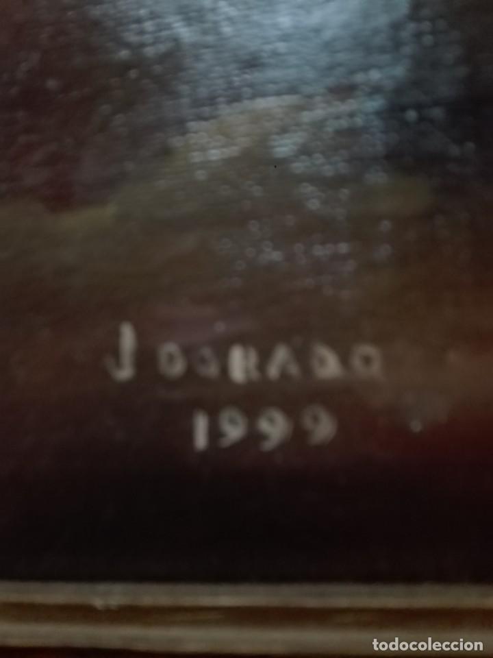 Arte: Pintura de cristo firmado J dorado 1999 - Foto 2 - 148673638