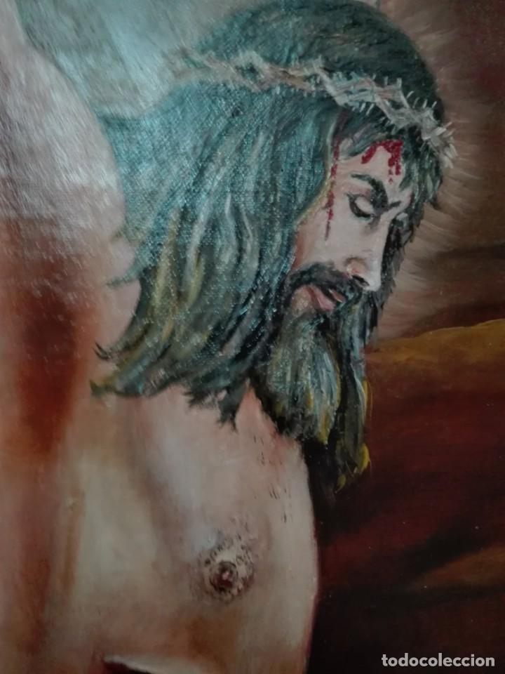 Arte: Pintura de cristo firmado J dorado 1999 - Foto 3 - 148673638
