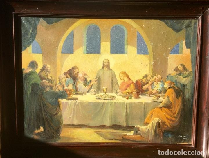 ADRIÀ GUAL QUERALT (BCN 1872-1943) (100X72,5 CM) LA ÚLTIMA CENA PIEZA DE COLECCIONISTA (Arte - Arte Religioso - Pintura Religiosa - Oleo)