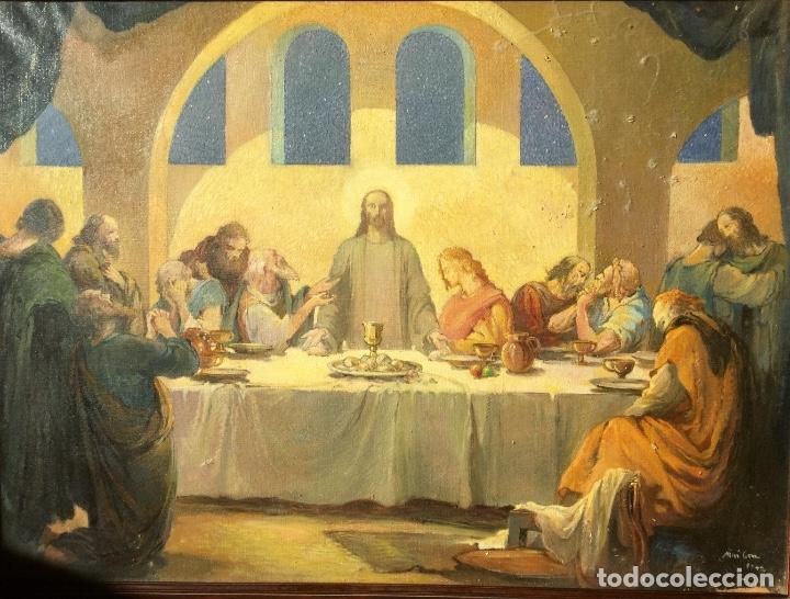 Arte: ADRIÀ GUAL QUERALT (BCN 1872-1943) (100x72,5 cm) LA ÚLTIMA CENA pieza de coleccionista - Foto 4 - 127431079