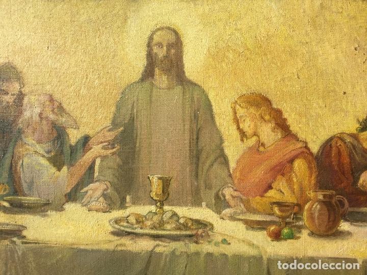 Arte: ADRIÀ GUAL QUERALT (BCN 1872-1943) (100x72,5 cm) LA ÚLTIMA CENA pieza de coleccionista - Foto 5 - 127431079