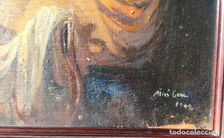 Arte: ADRIÀ GUAL QUERALT (BCN 1872-1943) (100x72,5 cm) LA ÚLTIMA CENA pieza de coleccionista - Foto 12 - 127431079