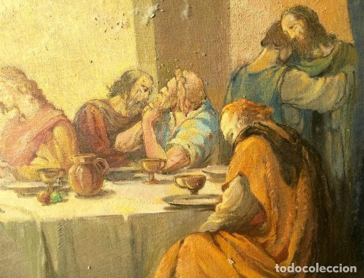 Arte: ADRIÀ GUAL QUERALT (BCN 1872-1943) (100x72,5 cm) LA ÚLTIMA CENA pieza de coleccionista - Foto 11 - 127431079