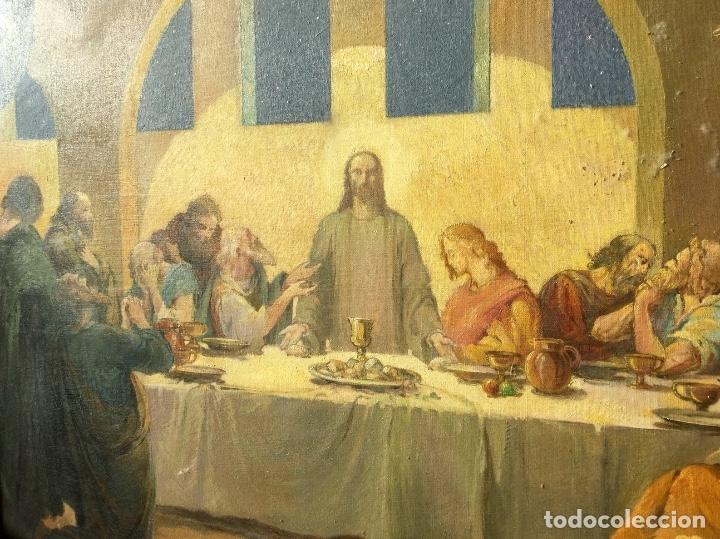 Arte: ADRIÀ GUAL QUERALT (BCN 1872-1943) (100x72,5 cm) LA ÚLTIMA CENA pieza de coleccionista - Foto 14 - 127431079