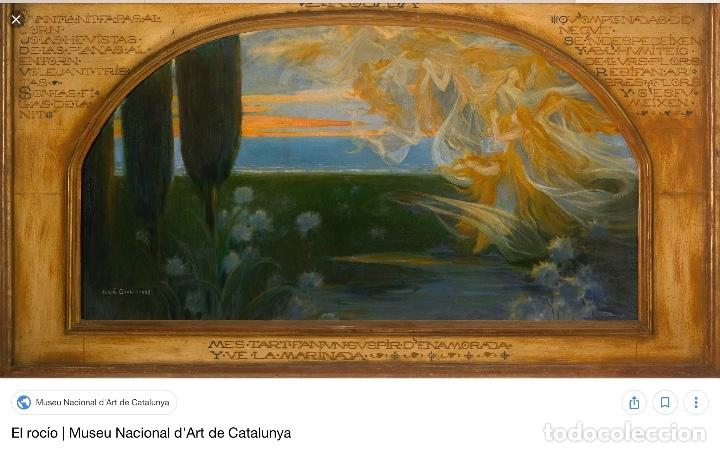 Arte: ADRIÀ GUAL QUERALT (BCN 1872-1943) (100x72,5 cm) LA ÚLTIMA CENA pieza de coleccionista - Foto 17 - 127431079