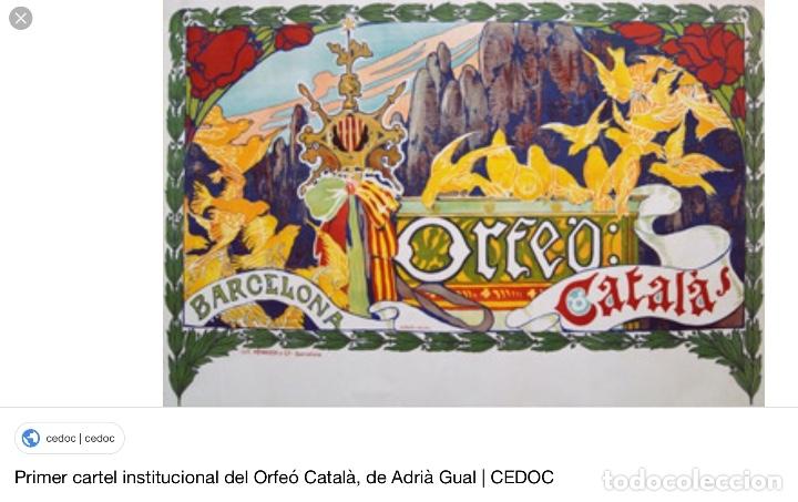 Arte: ADRIÀ GUAL QUERALT (BCN 1872-1943) (100x72,5 cm) LA ÚLTIMA CENA pieza de coleccionista - Foto 18 - 127431079