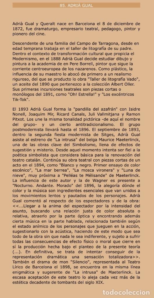 Arte: ADRIÀ GUAL QUERALT (BCN 1872-1943) (100x72,5 cm) LA ÚLTIMA CENA pieza de coleccionista - Foto 19 - 127431079