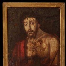Arte: ECCE HOMO , SIGLO S.XVI, OLEO SOBRE LIENZO , MARAVILLOSO.. Lote 148676786