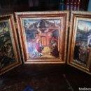 Arte: ICONO TRÍPTICO DEL NACIMIENTO.MAESTRO DE ÁVILA GARCIA DEL BARCO. AÑOS 50 MIDE 73X38. Lote 161289728