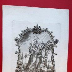 Arte: SAN JOAQUIN PADRE DE LA MADRE DE DIOS - GRABADO F. MAJORICE - 1763 . Lote 148801814