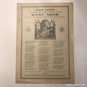 1911 Nous goigs llahor del gloriós pagés y martre Sant Medí